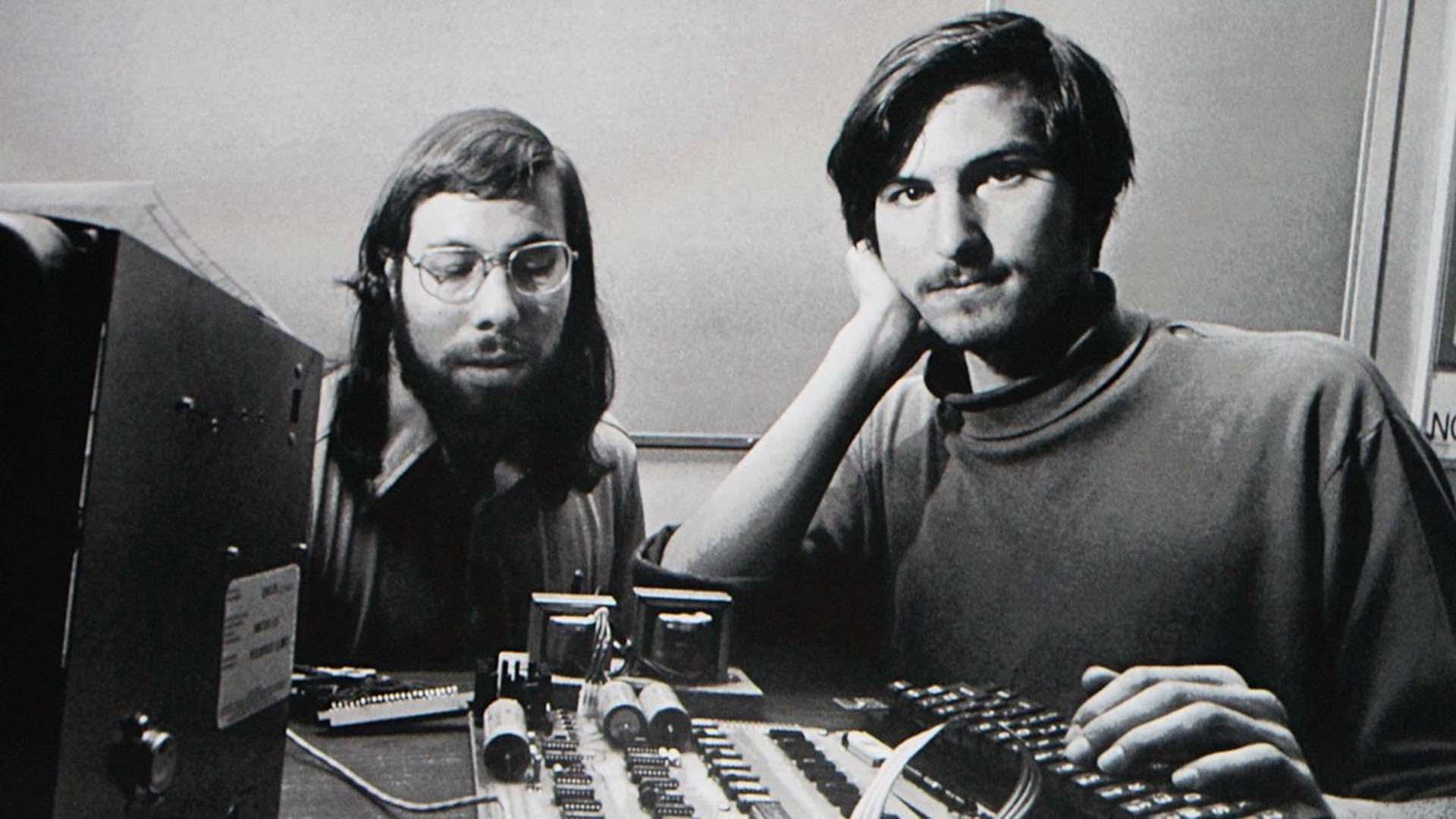 Steve Jobs and Steve Wozniak.