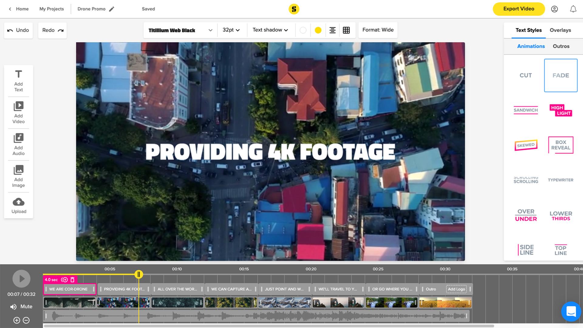 Storyblocks Maker video creation tool. Image: Storyblocks.