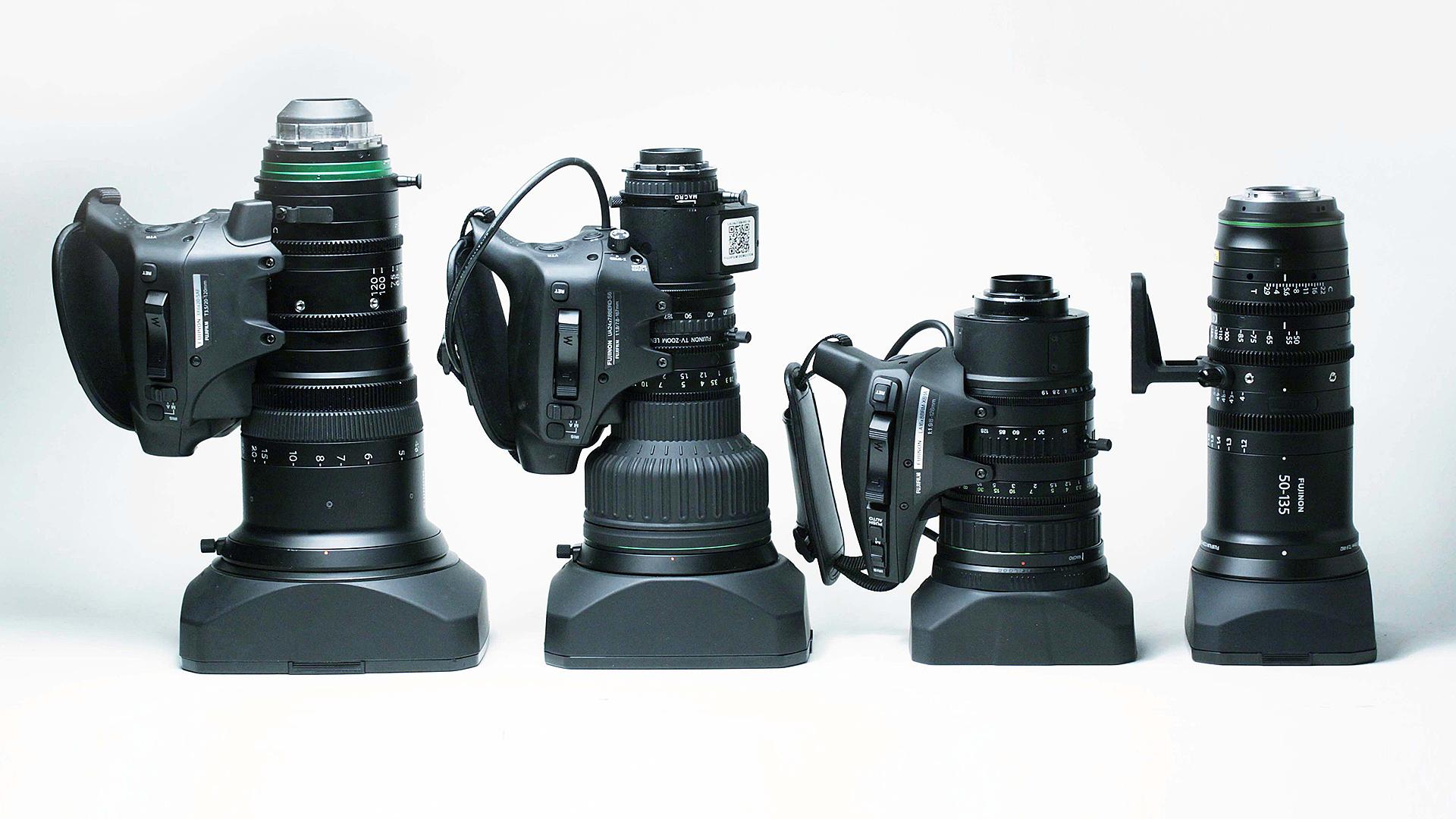 Fujinon broadcast zoom lenses.