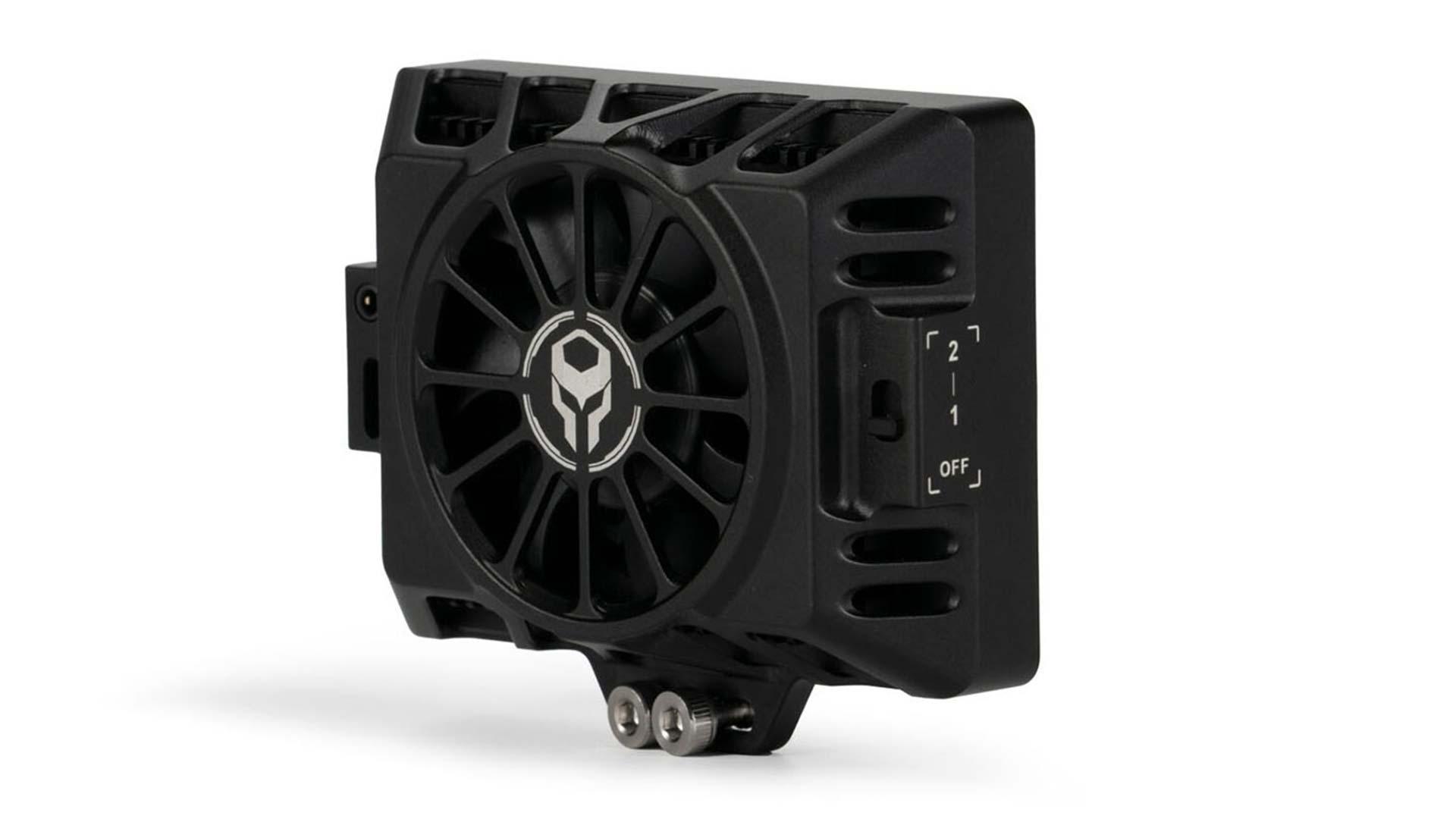 Tilta's new fan cooling system for the EOS R5. Image: Tilta.