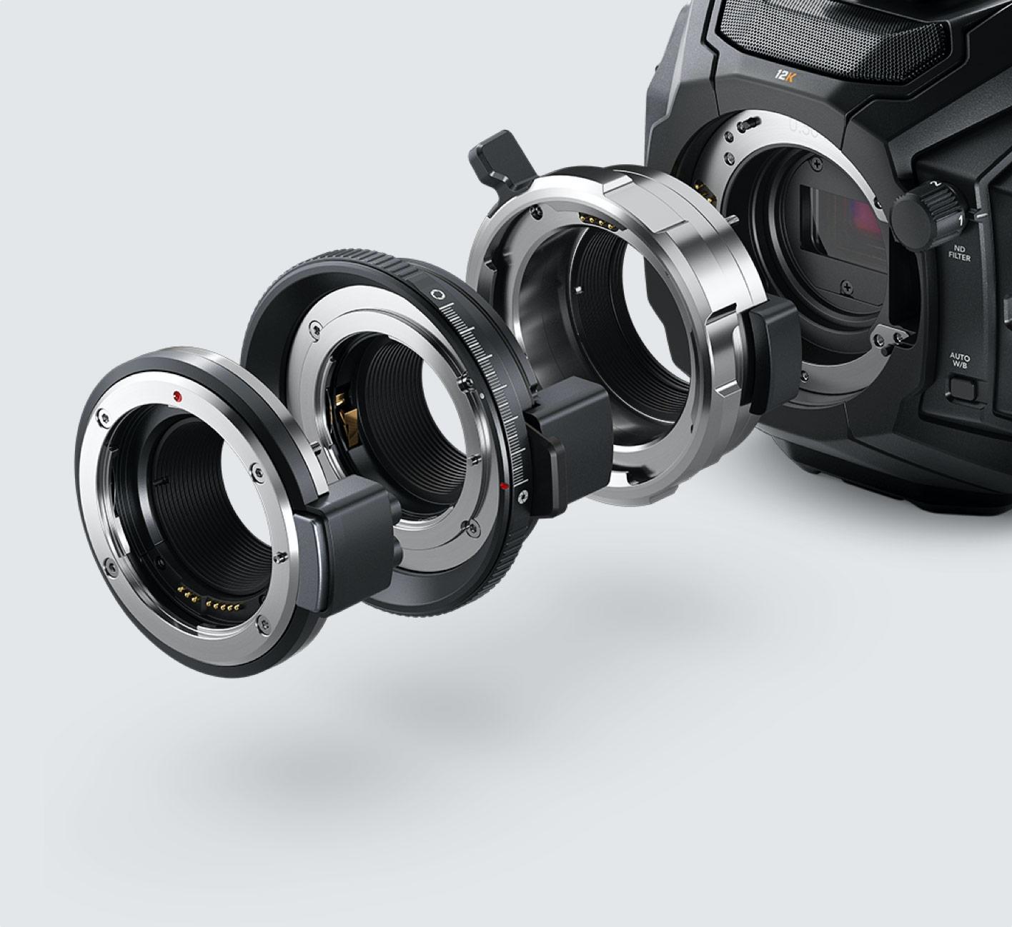 URSA Mini Pro 12K lens mounts