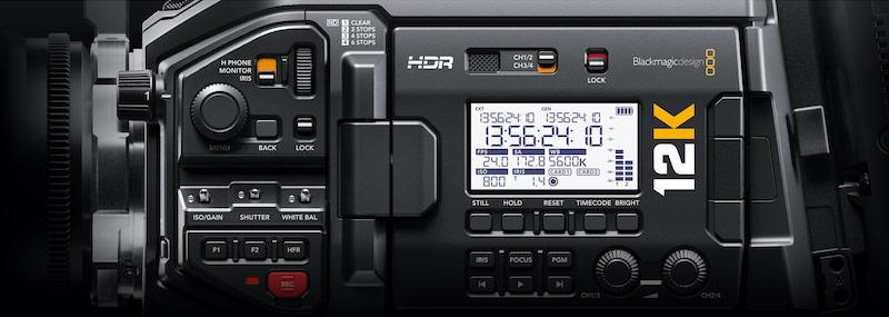 URSA Mini Pro 12K side controls