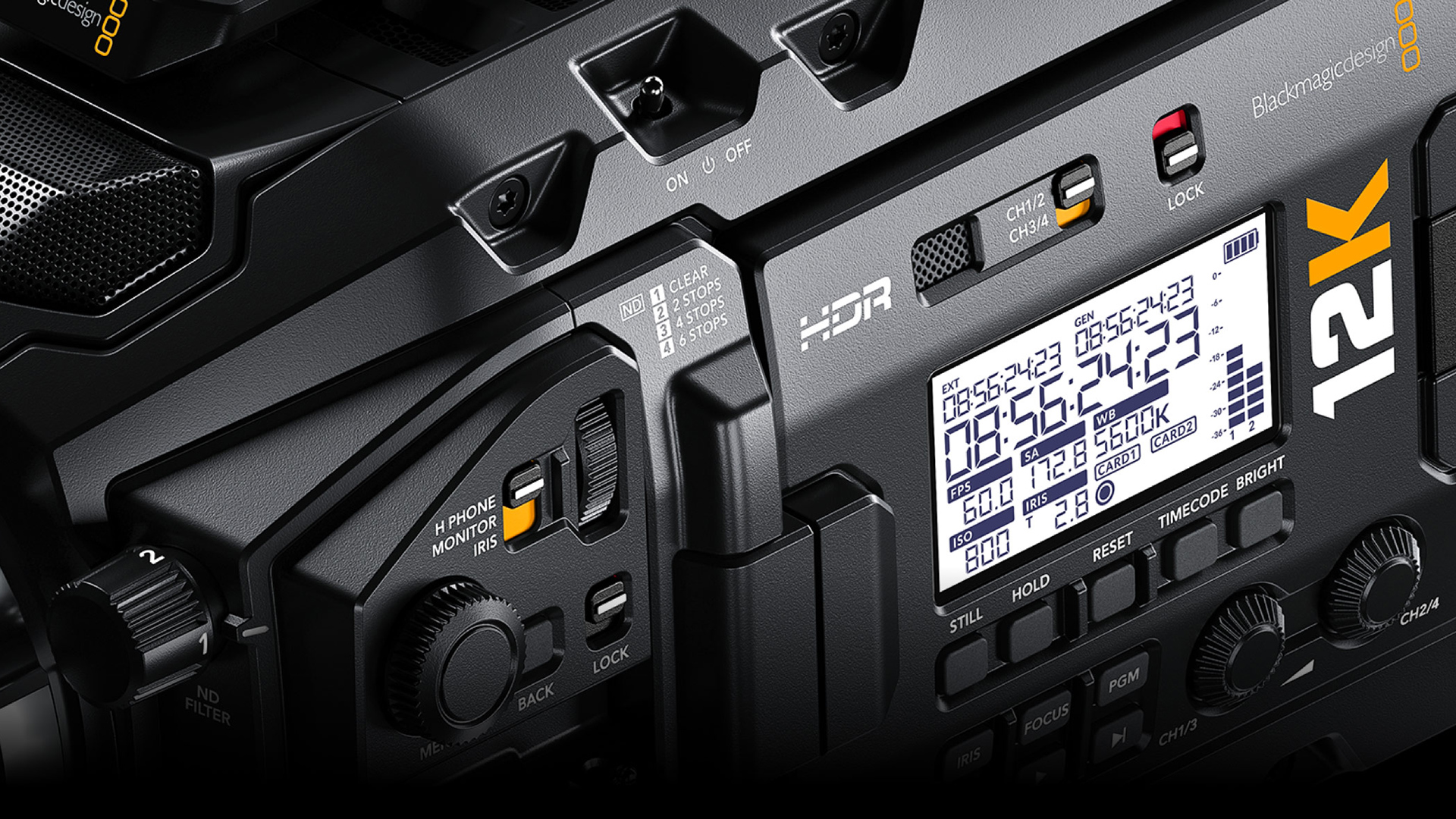 The Ursa Mini Pro 12K. Image: Blackmagic Design.
