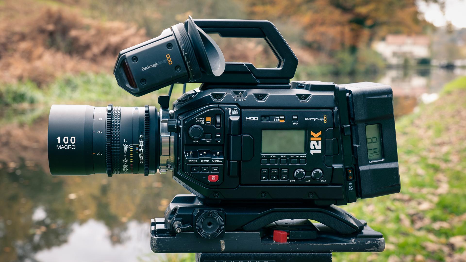 URSA Mini Pro 12K with Tokina 100mm Macro lens wide shot