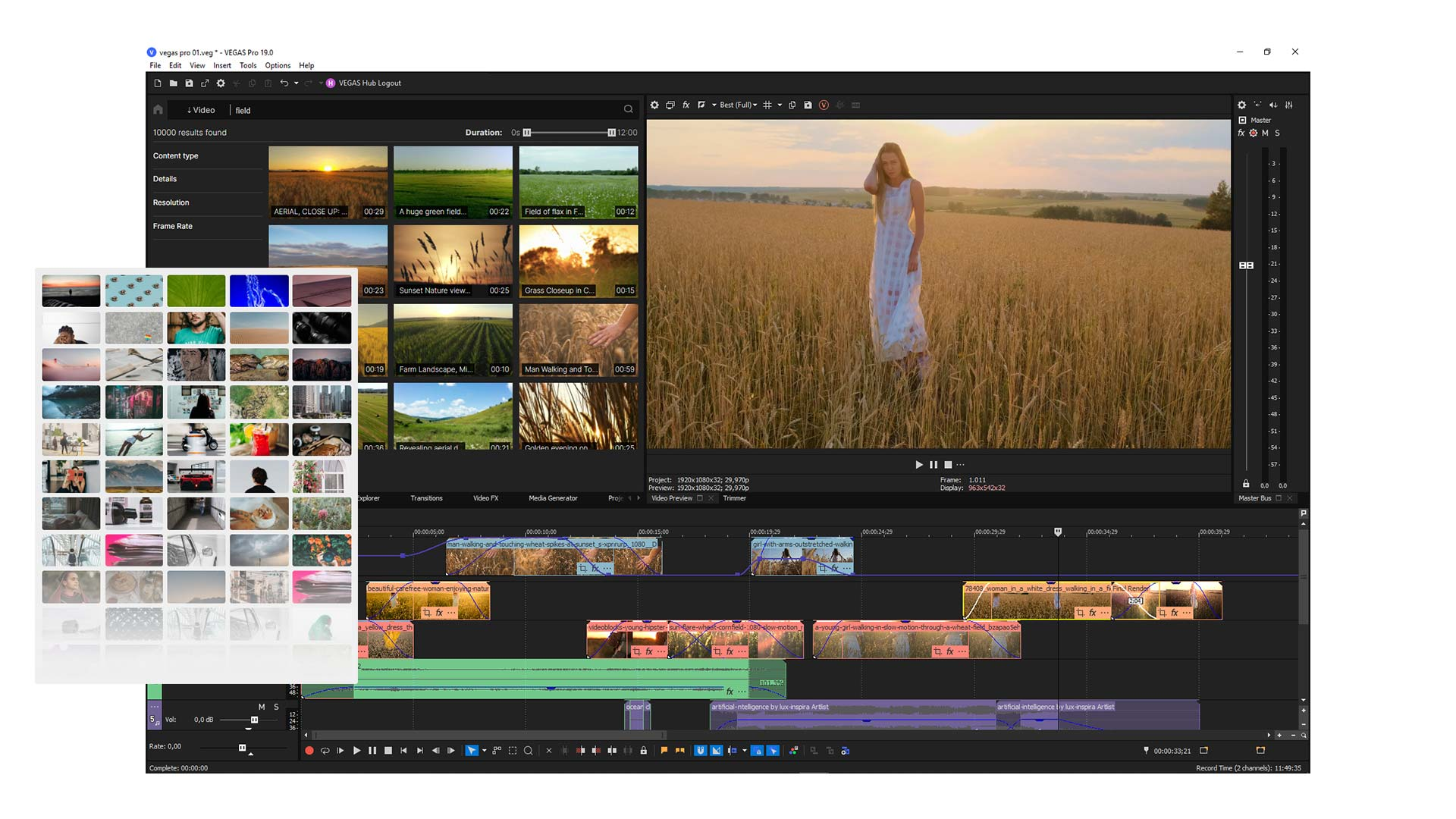 VEGAS Pro 19. Image: VEGAS Creative Software.