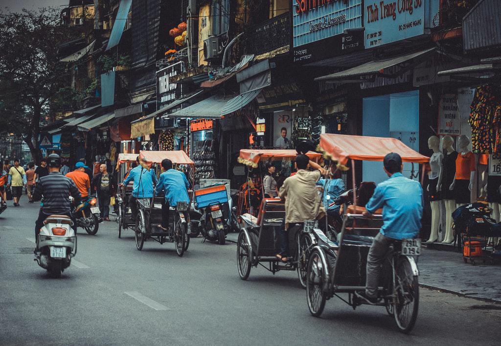 Photo of street in Vietnam