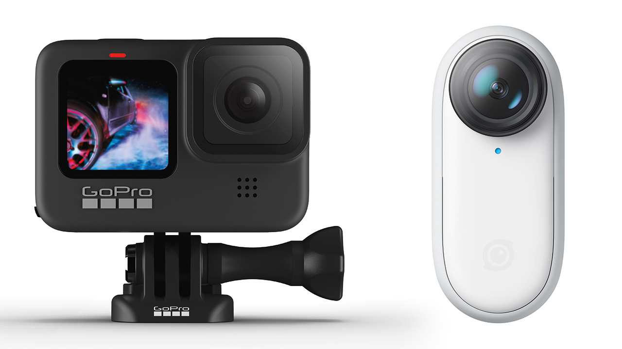 What are the main differences between the key action cameras on the market? Image: GoPro and Insta360.