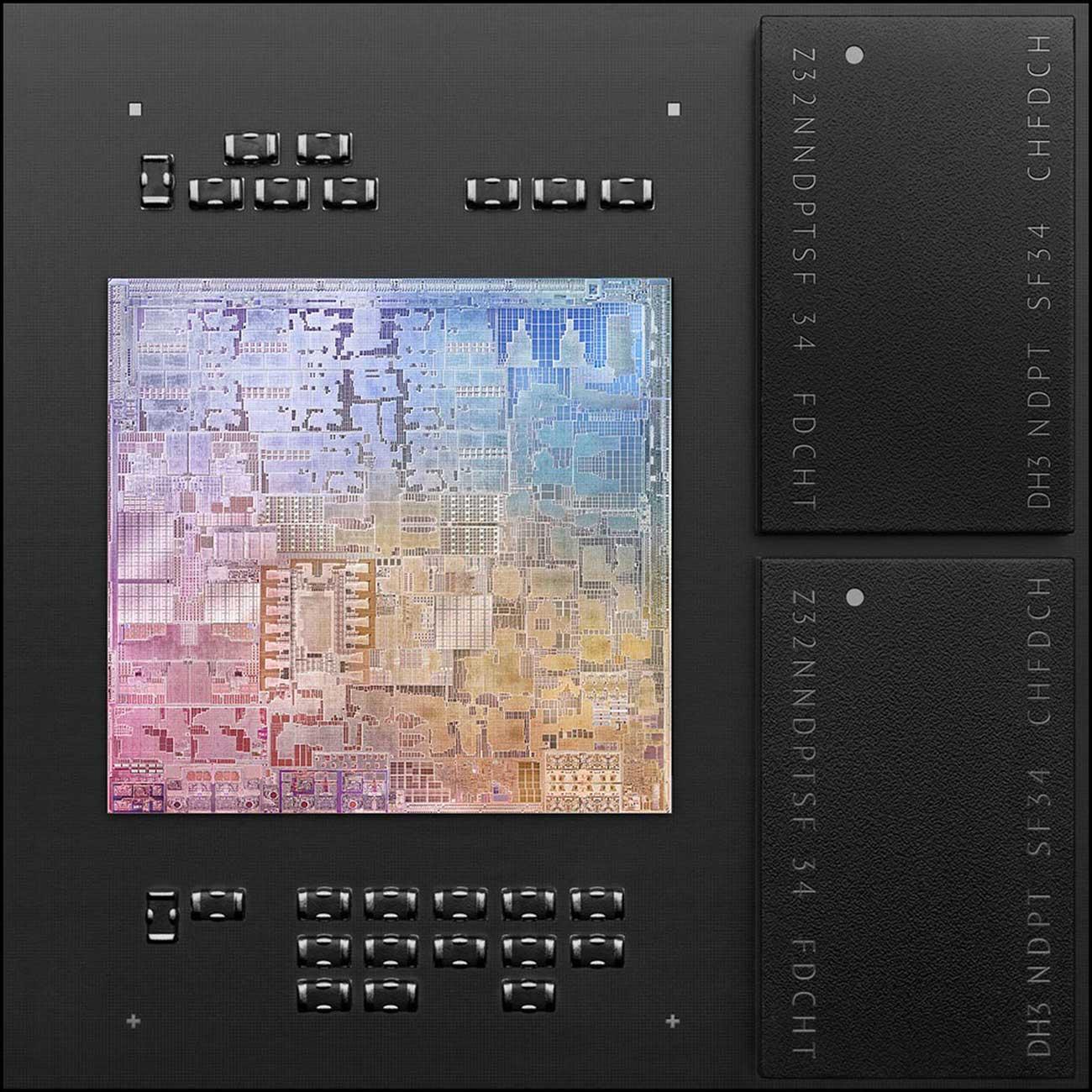 The Apple M1 chip.