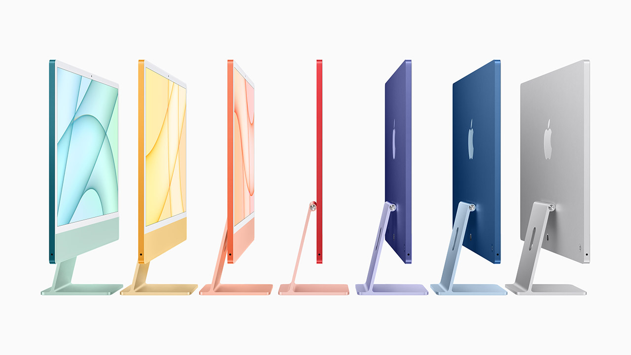 The new Apple iMac is available in a range of colours. Image: Apple.