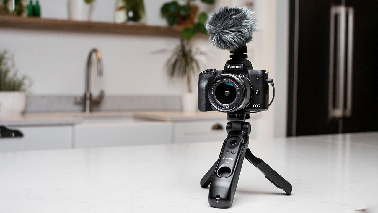 The new Canon EOS M50 Mark II is designed for vloggers and live streamers. Image: Matt Adlard.