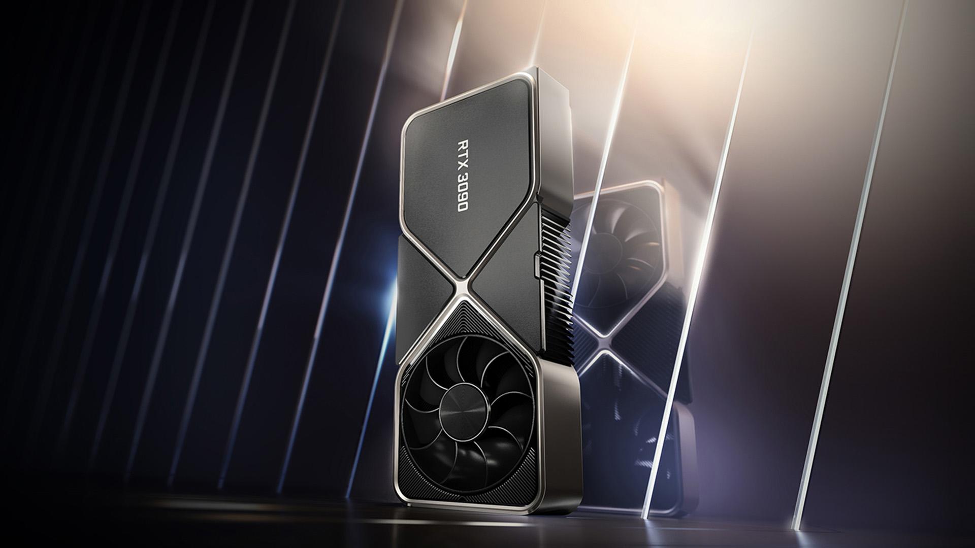 Nvidia's monster RTX3090 GPU. Image: Nvidia.