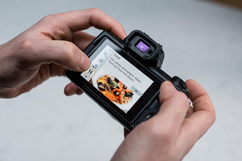 EOS M50 Mark II picture modes. Image: Matt Adlard.