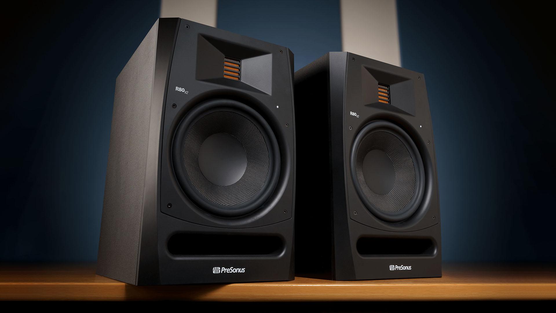 The new PreSonus R80 V2 monitors. Image: PreSonus.