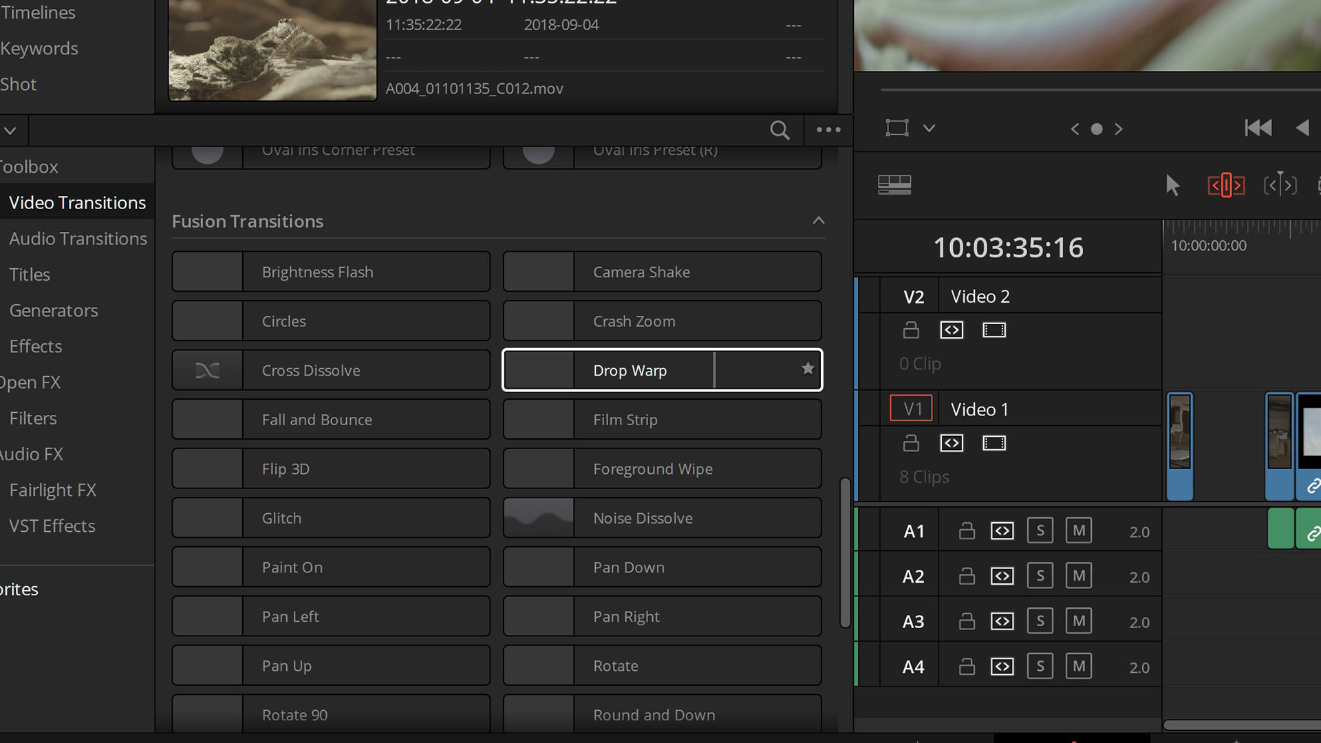 New tools accessible within the Edit page. Media files courtesy John Brawley, Peter Nearhos and Blackmagic Design.