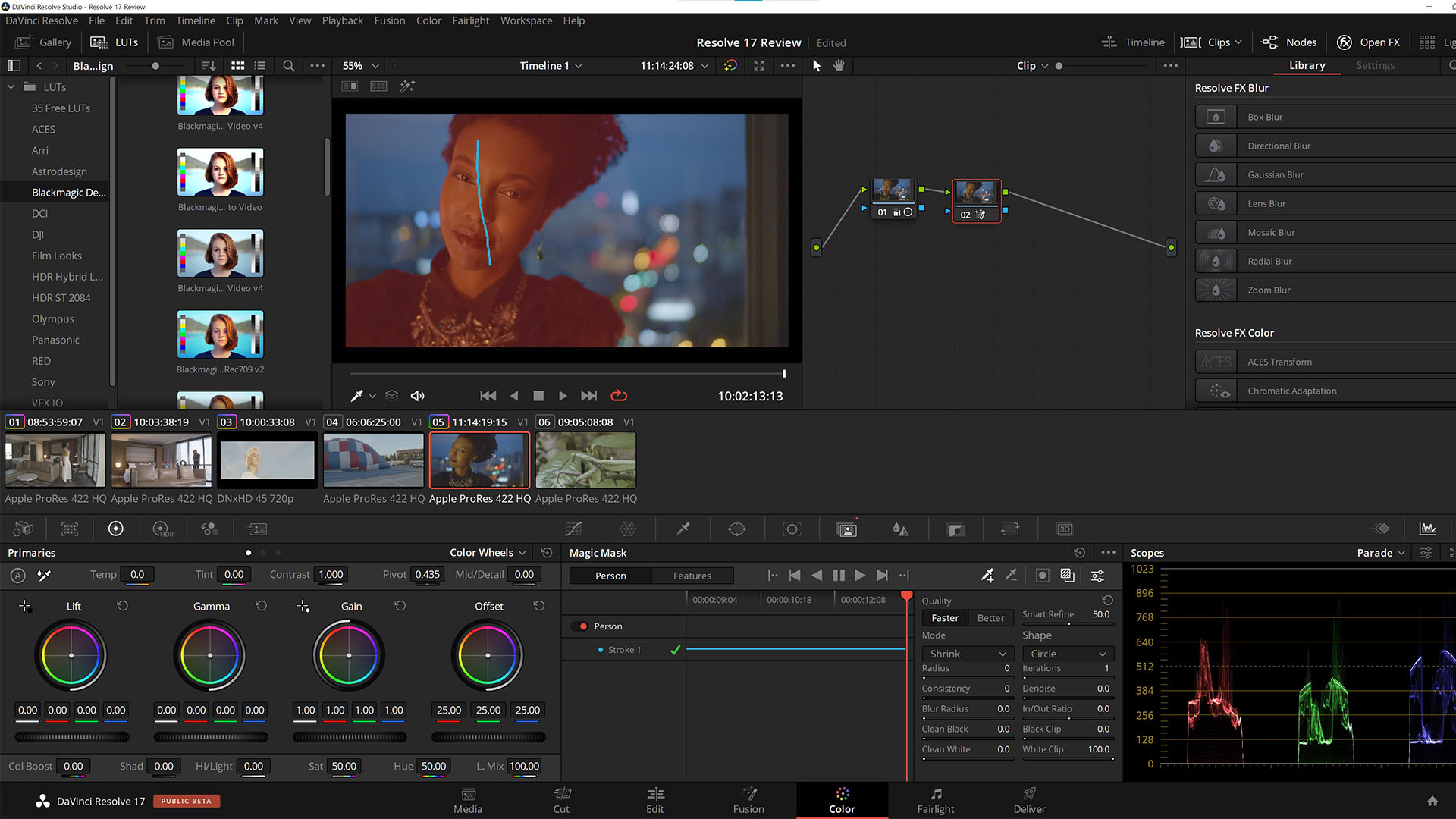 The new Magic Mask tool. Media files courtesy John Brawley, Peter Nearhos and Blackmagic Design.