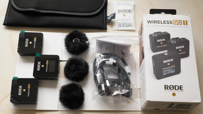 RØDE Wireless GO II box contents.