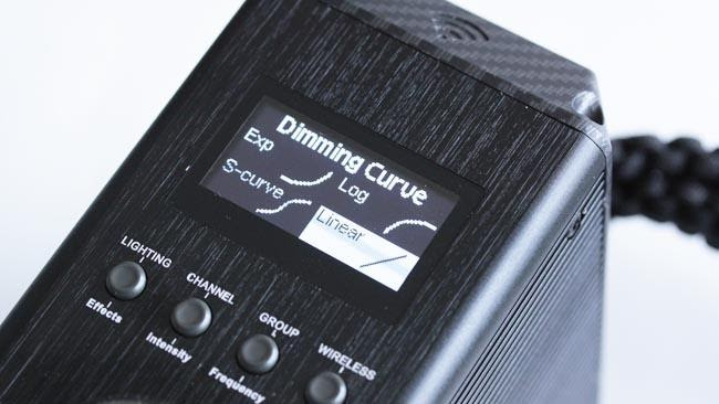 Aputure Dimming Curve