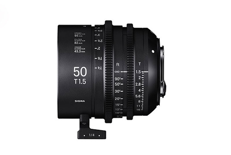 Sigma 50mm T1.5 cine lens. Image: Sigma.