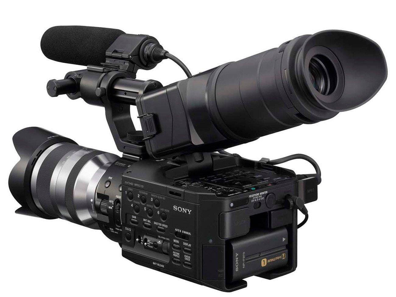 Sony NEX FS100 camera. Image: Sony.